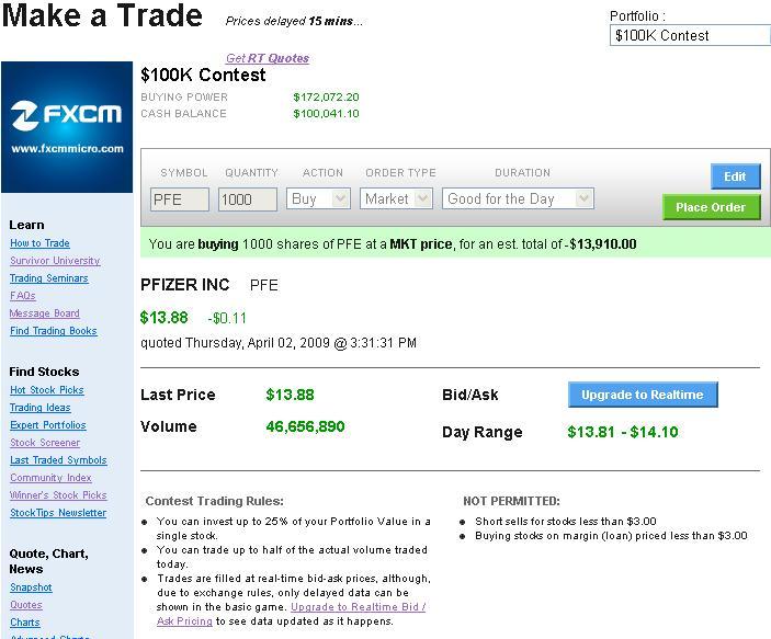 Stock broker stock trader