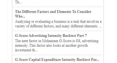 Fat Pitch Financials RSS Widget