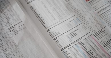Newspaper stock quotes